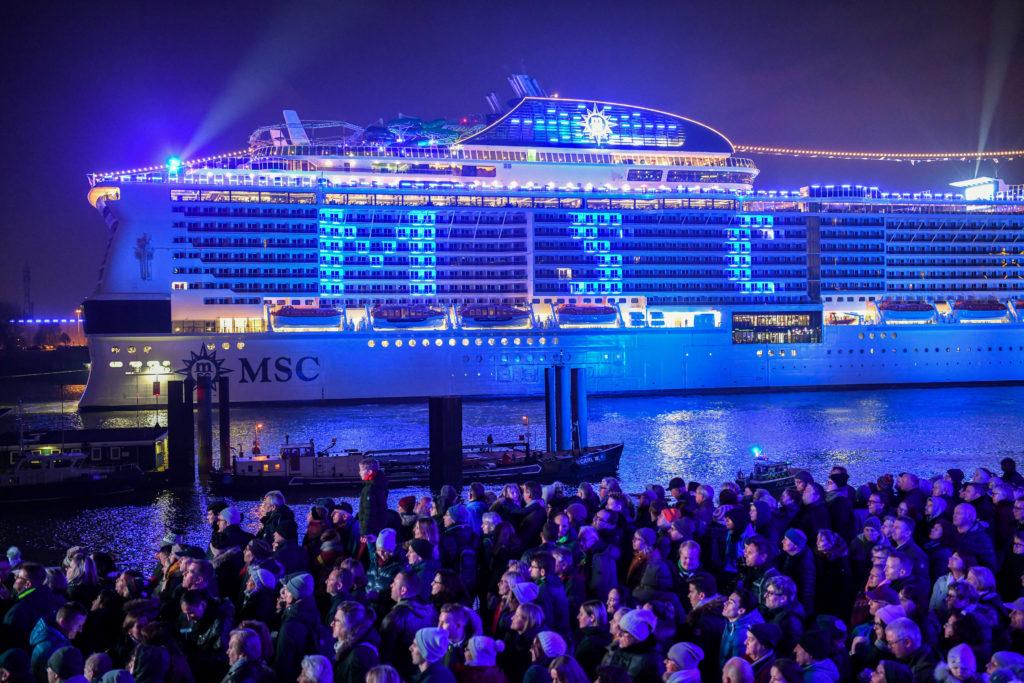 Taufe Der Msc Grandiosa In Hamburg Reiseberichte